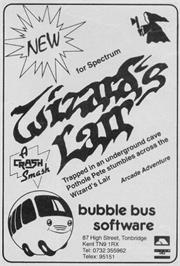 Advert for Wizard's Lair on the Commodore 64.