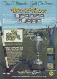 Advert for World Class Leader Board on the Commodore 64.