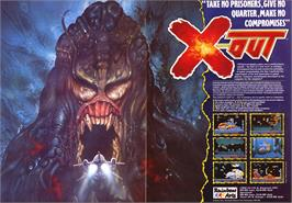 Advert for X-Out on the Sinclair ZX Spectrum.