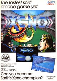 Advert for Xeno on the Sinclair ZX Spectrum.