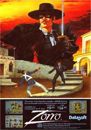 Advert for Zorro on the Sinclair ZX Spectrum.