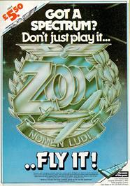 Advert for Zzoom on the Sinclair ZX Spectrum.