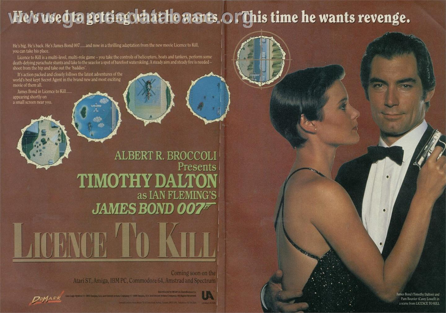 007: Licence to Kill - Sinclair ZX Spectrum - Artwork - Advert