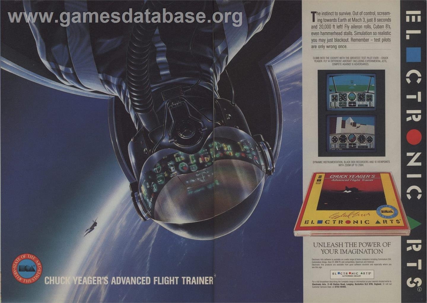 Chuck Yeager's Advanced Flight Trainer - Apple II - Artwork - Advert
