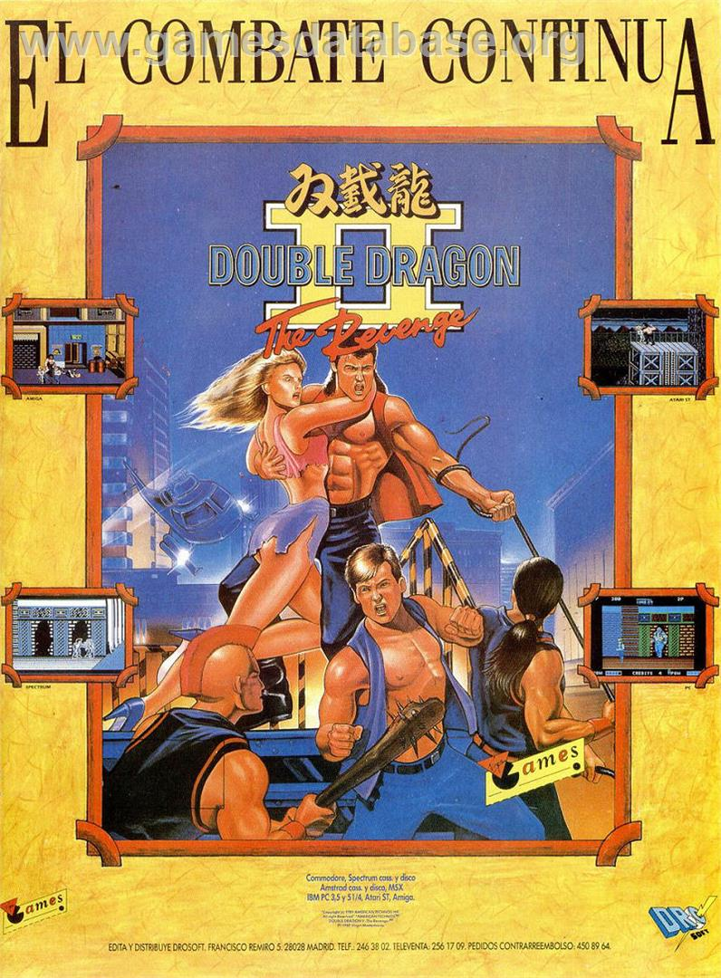 Advert for Double Dragon II: The Revenge on the Sinclair ZX Spectrum.
