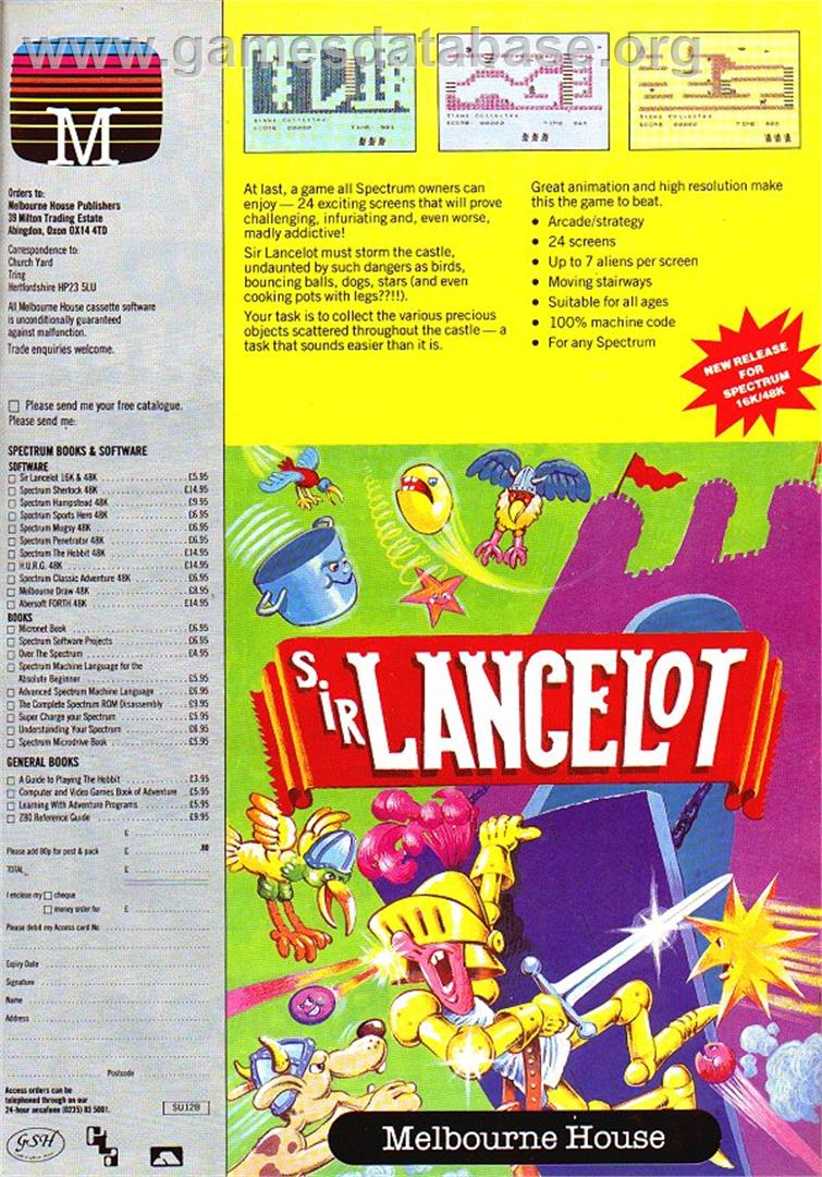 Sir Lancelot - Commodore VIC-20 - Artwork - Advert