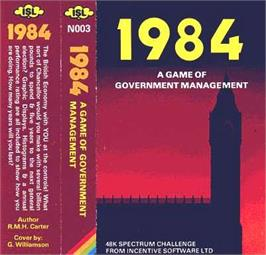 Box cover for 1984: The Game of Government Management on the Sinclair ZX Spectrum.