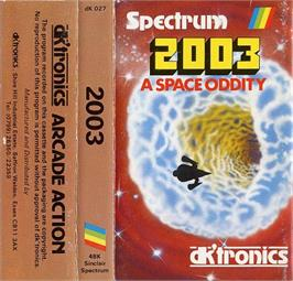 Box cover for 2003: A Space Oddity on the Sinclair ZX Spectrum.