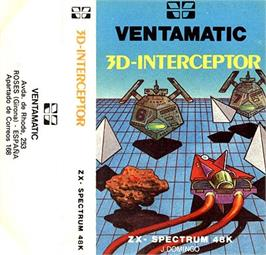 Box cover for 3D Interceptor on the Sinclair ZX Spectrum.