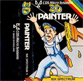 Box cover for 3D Painter on the Sinclair ZX Spectrum.