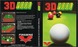 Box cover for 3D Pool on the Sinclair ZX Spectrum.