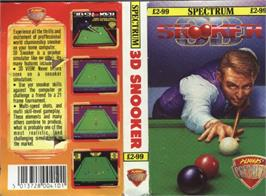 Box cover for 3D Snooker on the Sinclair ZX Spectrum.