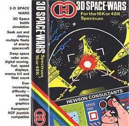 Box cover for 3D Space Wars on the Sinclair ZX Spectrum.