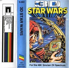 Box cover for 3D Star Wars on the Sinclair ZX Spectrum.