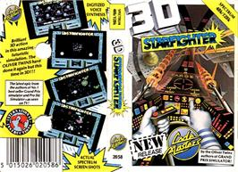Box cover for 3D Starfighter on the Sinclair ZX Spectrum.