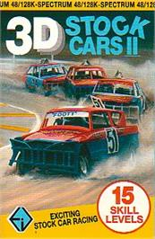 Box cover for 3D Stock Cars II on the Sinclair ZX Spectrum.