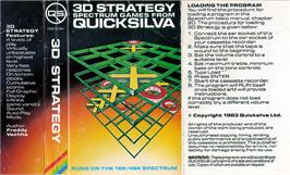 Box cover for 3D Strategy on the Sinclair ZX Spectrum.