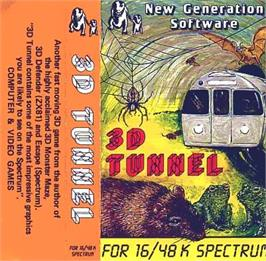 Box cover for 3D Tunnel on the Sinclair ZX Spectrum.