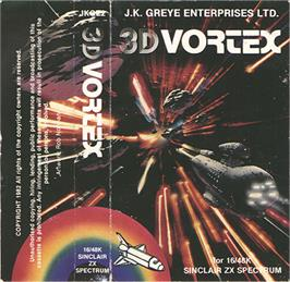 Box cover for 3D Vortex on the Sinclair ZX Spectrum.