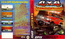 Box cover for 4x4 Off-Road Racing on the Sinclair ZX Spectrum.