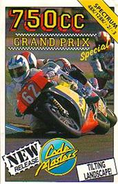 Box cover for 750cc Grand Prix on the Sinclair ZX Spectrum.