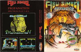 Box cover for Abu Simbel Profanation on the Sinclair ZX Spectrum.