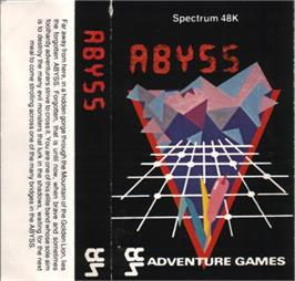 Box cover for Abyss on the Sinclair ZX Spectrum.