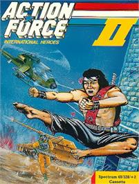 Box cover for Action Force 2 on the Sinclair ZX Spectrum.