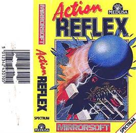 Box cover for Action Reflex on the Sinclair ZX Spectrum.