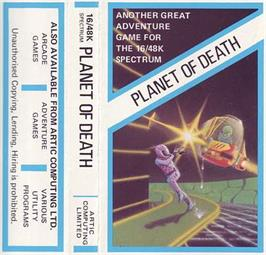 Box cover for Adventure A: Planet of Death on the Sinclair ZX Spectrum.