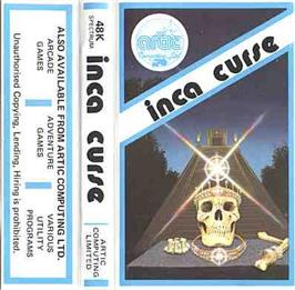 Box cover for Adventure B: Inca Curse on the Sinclair ZX Spectrum.