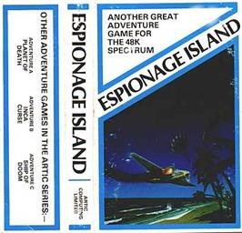 Box cover for Adventure D: Espionage Island on the Sinclair ZX Spectrum.