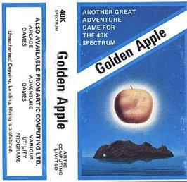Box cover for Adventure E: The Golden Apple on the Sinclair ZX Spectrum.