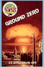 Box cover for Adventure G: Ground Zero on the Sinclair ZX Spectrum.