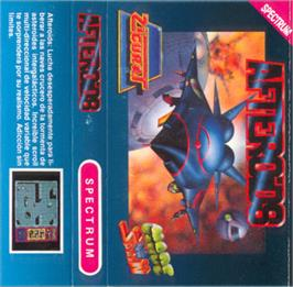 Box cover for Afteroids on the Sinclair ZX Spectrum.