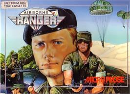 Box cover for Airborne Ranger on the Sinclair ZX Spectrum.