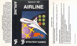 Box cover for Airliner on the Sinclair ZX Spectrum.