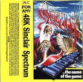 Box cover for Alchemist on the Sinclair ZX Spectrum.