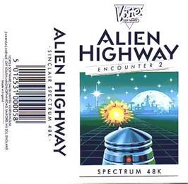 Box cover for Alien Highway: Encounter 2 on the Sinclair ZX Spectrum.