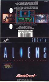 Box cover for Aliens: The Computer Game on the Sinclair ZX Spectrum.