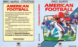 Box cover for American Football on the Sinclair ZX Spectrum.
