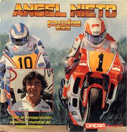 Box cover for Angel Nieto Pole 500 on the Sinclair ZX Spectrum.
