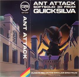 Box cover for Ant Attack on the Sinclair ZX Spectrum.