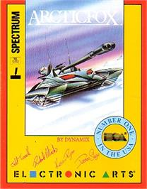 Box cover for Arcticfox on the Sinclair ZX Spectrum.