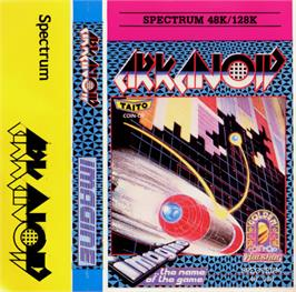 Box cover for Arkanoid on the Sinclair ZX Spectrum.
