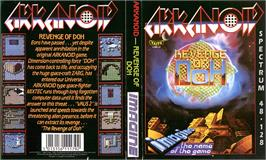 Box cover for Arkanoid 2: Revenge of Doh on the Sinclair ZX Spectrum.