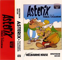 Box cover for Asterix and the Magic Cauldron on the Sinclair ZX Spectrum.