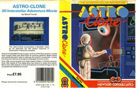 Box cover for Astroclone on the Sinclair ZX Spectrum.