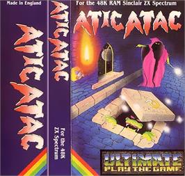 Box cover for Atic Atac on the Sinclair ZX Spectrum.