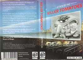 Box cover for Attack of the Killer Tomatoes on the Sinclair ZX Spectrum.